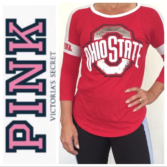 57fb5c35 PINK Victoria's Secret Tops | Vs Pink Collegiate Ohio State Bling T ...
